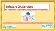 Software QA Services – An Important Ingredient in Software Development