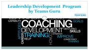 Leadership Development  Program by Teams Guru