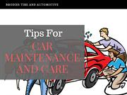 Tips for Car Maintenance and Automotive Repair Sonoma County