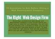 10 Questions to Ask Before Hiring a Web