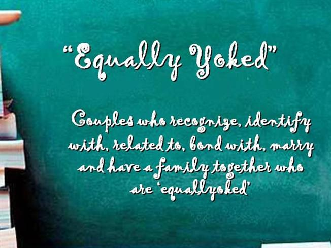 What is equally yoked
