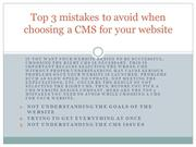 Top 3 mistakes to avoid when choosing a CMS for your website