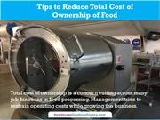 Tips to Reduce Total Cost of Ownership of Food