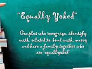 Equally Yoked----the Social Psychology term.