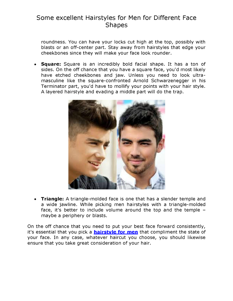 Some Excellent Hairstyles For Men For Different Face Shapes