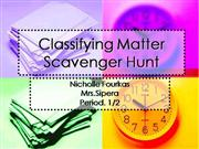 Classifying Matter Scavenger Hunt