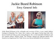 Jackie Beard Robinson - Envy general info
