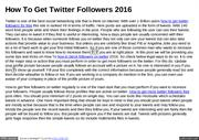 How To Get Twitter Followers 2016