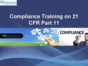 Compliance Training on 21 CFR Part 11