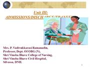 ADMISSION & DISCHARGE