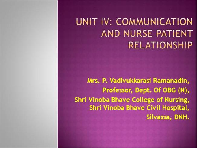 Communication in nursing authorstream fandeluxe Image collections