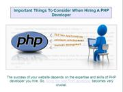 Important Things To Consider When Hiring A PHP Developer