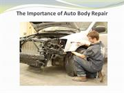 The Importance of Auto Body Repair