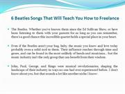 6 BeatlesSongsThat Will Teach You How to Freelance