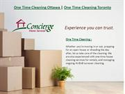 One Time Cleaning Ottawa | One Time Cleaning Toronto
