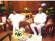 Meeting with the Hon'ble Railway Minister of India, Suresh Prabhu Ji a