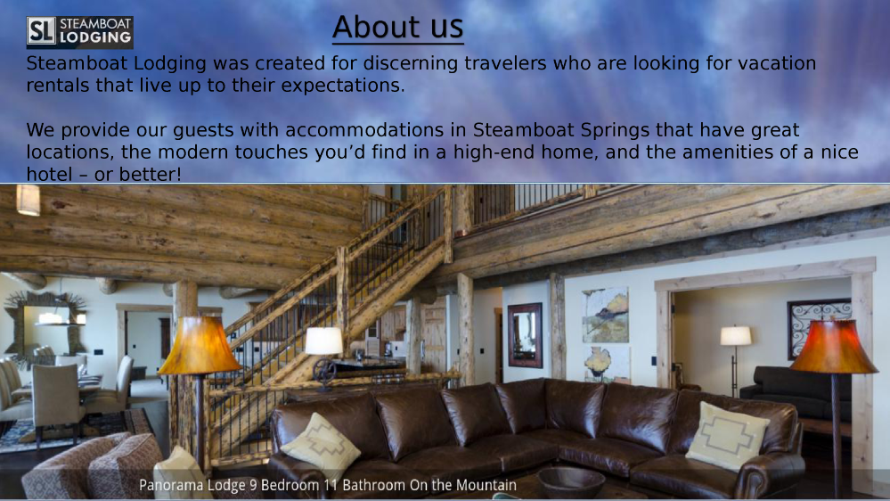 Luxury vacation rentals in steamboat springs authorstream for Steamboat springs cabins for rent