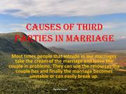Causes of Third Parties in Our Marriages