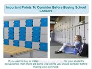 Important Points To Consider Before Buying School Lockers