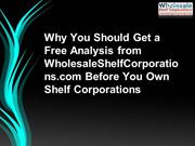 Why You Should Get a Free Analysis from WholesaleShelfCorporations