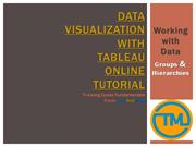 Data Visualization with Tableau Online Tutorial__Working with Data - G