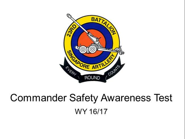 Trg Commander Safety Awareness Test PPT 1617 - TV |authorSTREAM