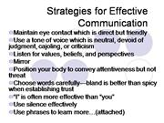 Strategies for Effective Communication