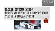 Jaguar on Your Mind? Here' 2016 Jaguar F-Type
