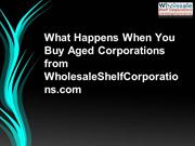 What Happens When You Buy Aged Corporations from WholesaleShelfCorpora
