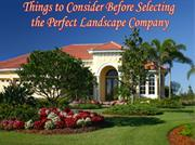 Points to consider while selecting perfect landscape company