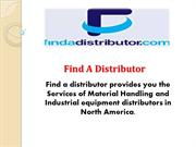 Find Right Material Handling Equipment's Distributors Online