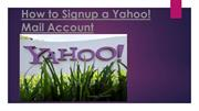 How to Signup a Yahoo! Mail Account