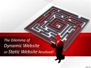 The Dilemma of Dynamic Website or Static Website Resolved