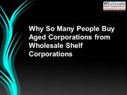 Why So Many People Buy Aged Corporations from Wholesale Shelf Corporat