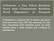 Celebrate a  Birthday with Celebrations Birthday Party Planner