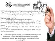 Facilities Management Consultancy by DCT Facilities Management