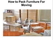 How to Prepare Furniture For Moving