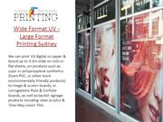 Wide Format UV - Large Format Printing Sydney - John Fisher Printing
