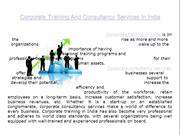 Corporate Training And Consultancy Services In India