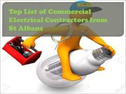 Top List of Commercial Electrical Contractors from St Albans