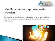 Benefits of mobile apps for conferences