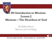 MI 101 Lesson 2 audio - Missions, the Heartbeat of God-1
