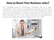 How to Boost Your Business sales?