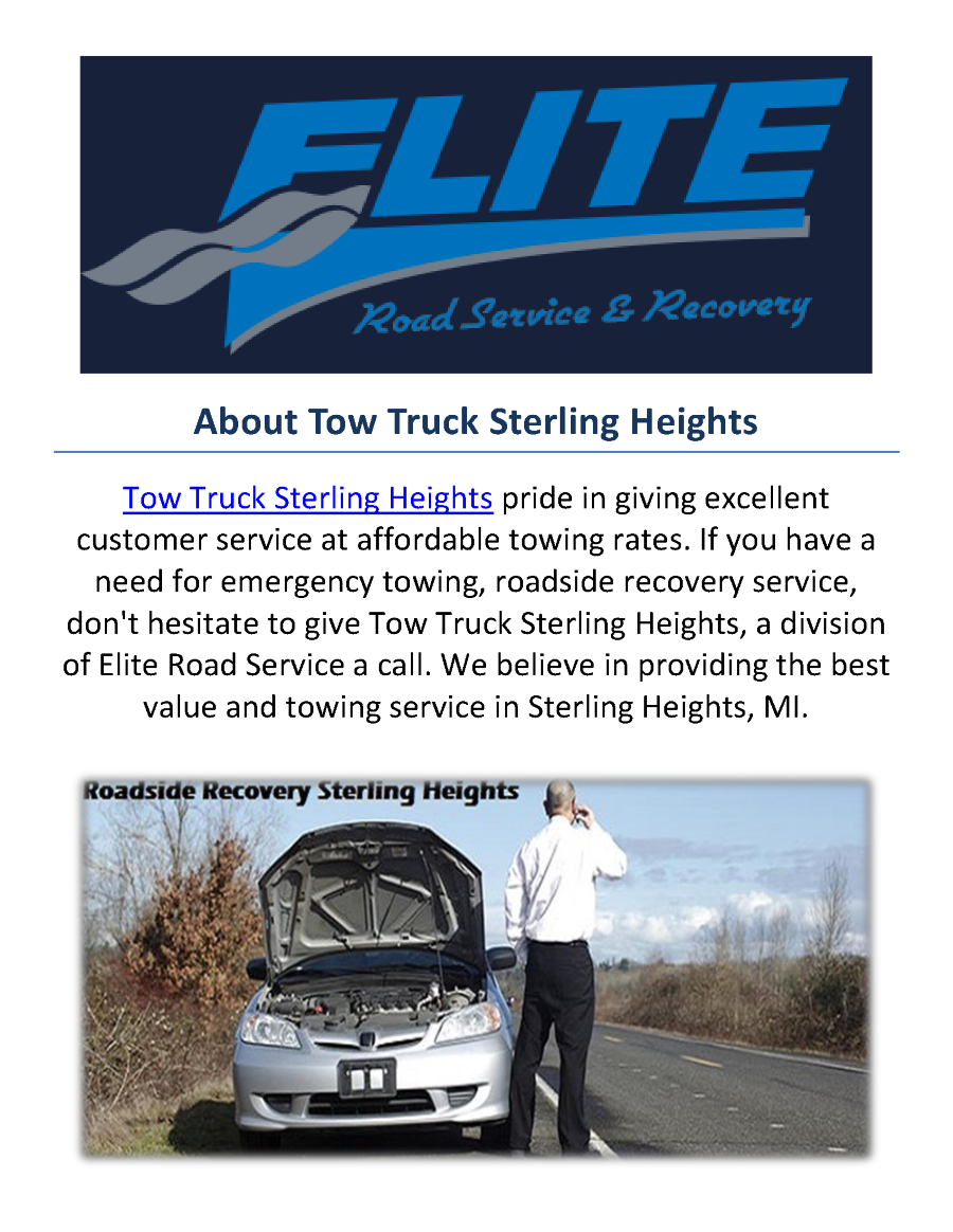 Truck Towing Service In Sterling Heights Mi Authorstream