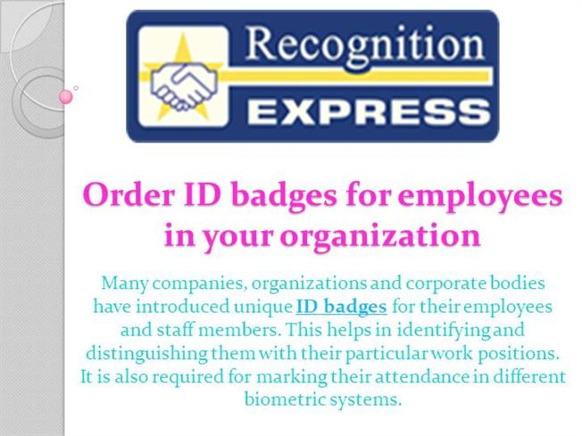 order id badges for employees in your organization authorstream