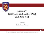 MI 101 Lesson 7 audio Acts 9-12 and Early Life and Ministry of Paul-1