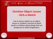 Christian Object Lesson - Etch-a-Sketch