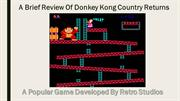A Brief Review Of Donkey Kong Country Returns