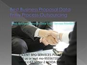 Best Business Proposal Data Entry Project Outsourcing