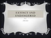 Extinct and Endangered